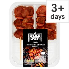 Tesco Bbq Chicken And Chorizo Kebabs 272G