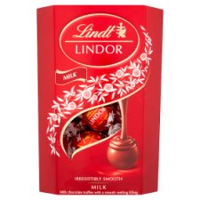 image 1 of Lindt Lindor Milk Chocolate Truffles Carton 200G
