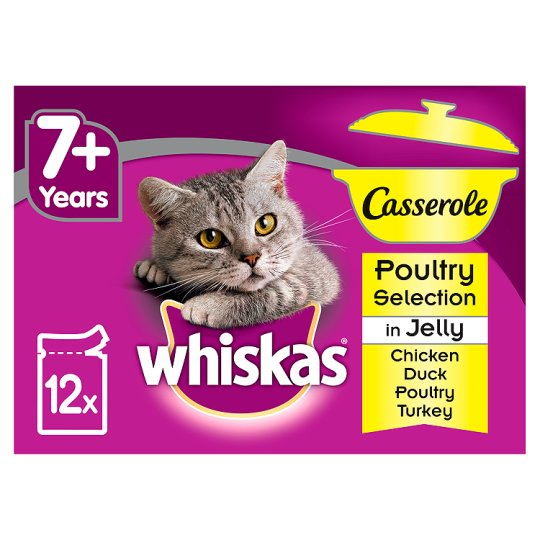 image 1 of Whiskas Casserole Poultry In Jelly 12 X 85G