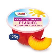 Dole Peaches In Strawberry Jelly 123G