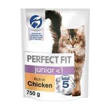 image 1 of Perfect Fit Cat Complete Junior <1 Chicken 750G