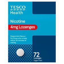 Tesco Nicotine 4Mg Lozenges 72S