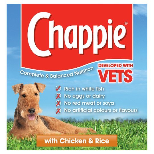 Chappie Chicken And Rice 825G