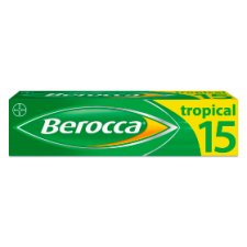 Berocca Tropical Effervescent Vitamin Energy Tablets 15S