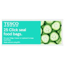 Tesco Resealable Food Storage Bags Small 25'S