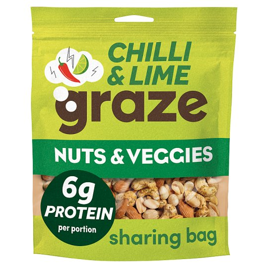 Graze Punchy Nut Punchy Protein Sharing Bag 118G