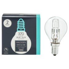 image 1 of Tesco Halogen 28W Mini Globe Small Edisonscrew 2 Pack