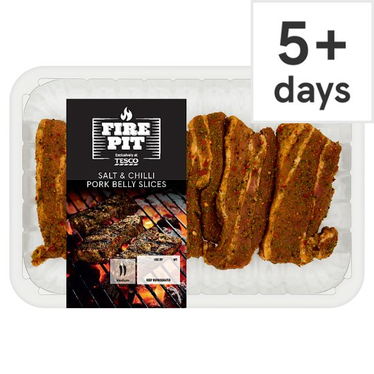 Tesco Salt And Chilli Pork Belly Slices 520G
