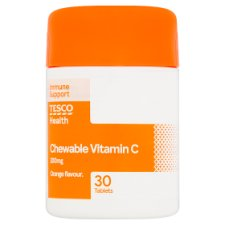 Tesco Chewable Vitamin C 200Mg X30