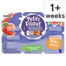 Petits Filous Strawberry Raspberry Fromage Frais 6 X47g