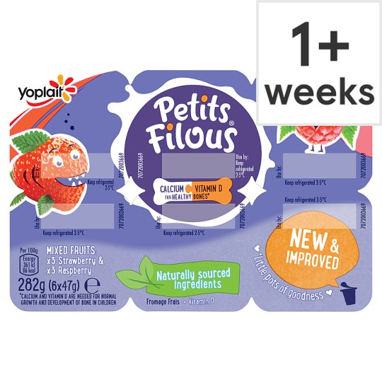 image 1 of Petits Filous Strawberry Raspberry Fromage Frais 6 X47g