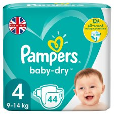 image 1 of Pampers Baby Dry Size 4 Essential Pack 44 Nappies