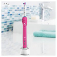 image 2 of Oral-B Pro 2000 Crossaction Pink Electric Toothbrush