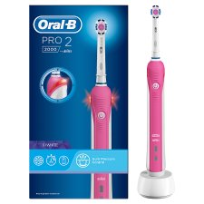 Oral-B Pro 2000 Crossaction Pink Electric Toothbrush