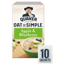 Quaker Oat So Simple Apple And Blueberry Porridge 10 X36g
