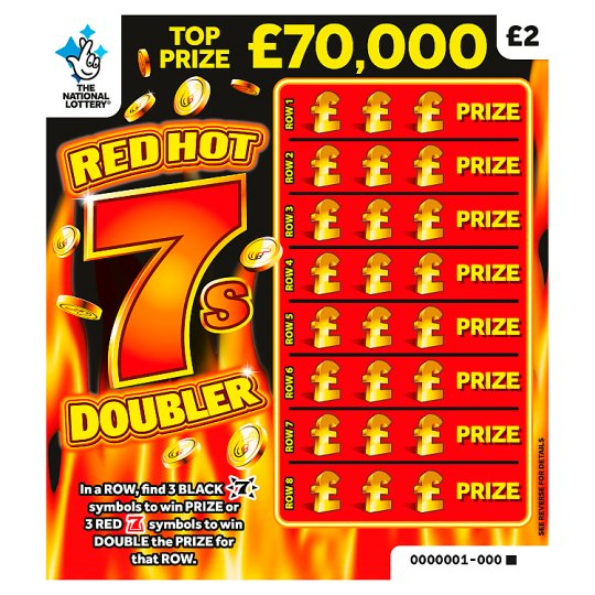 Red Hot 7S Scratchcard