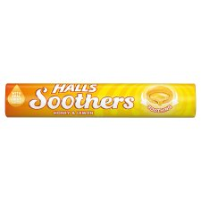 Halls Soothers Honey And Lemon 10S