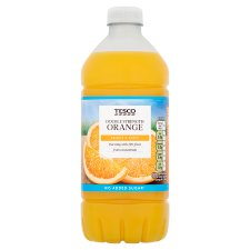 Tesco Double Strength Orange Squash No Added Sugar 750Ml