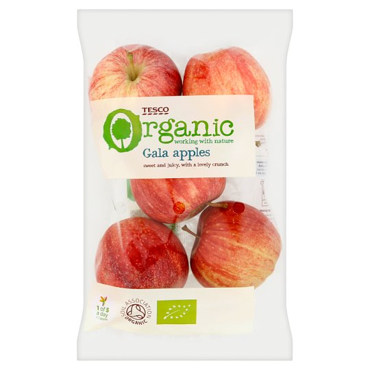 Tesco Organic Gala Apples 630G