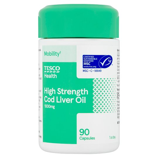 Tesco Cod Liver Oil 1000Mg 90S