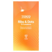 Tesco Sequre Ribs & Dots Condoms 12S