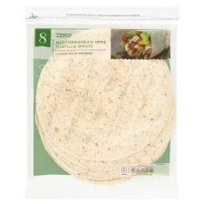 Tesco Mixed Herb Tortillas 8 Pack