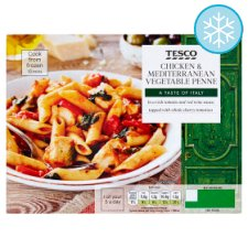 Tesco Chicken And Mediterranean Vegetable Penne 400G