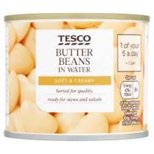 Tesco Butter Beans In Water 210G