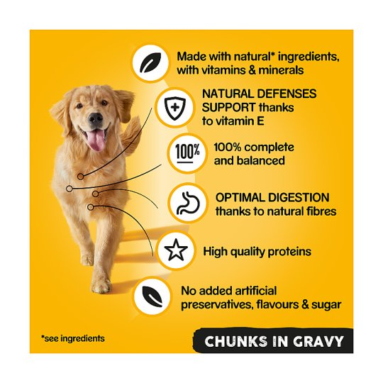 Pedigree Dog Food Tins Meat in Gravy 12x400g