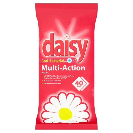 Daisy Pink Grapefruit Wipes 40 Pack