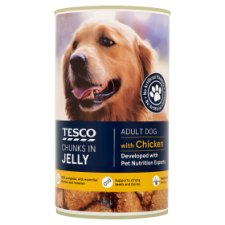 Tesco Cuts In Jelly With Chicken Tinned Dog Food 1.2Kg