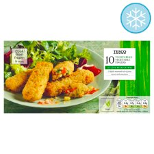 Tesco 10 Vegetable Fingers 282G