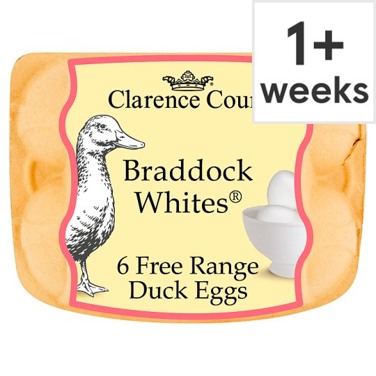 Clarence Court Braddock White Duck Free Range Eggs 6 Pack