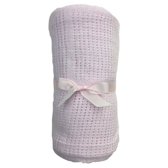 Tesco Cot Bed Cellular Blanket Pink