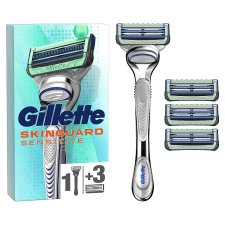 Gillette Skin Guard Sensitive Handle Plus 4 Blades