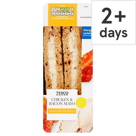 Tesco Chicken And Bacon Mayonnaise Sandwich