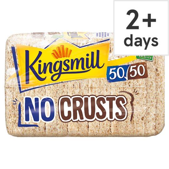 Kingsmill 50 50 Crusts Away Bread 400g Groceries Tesco