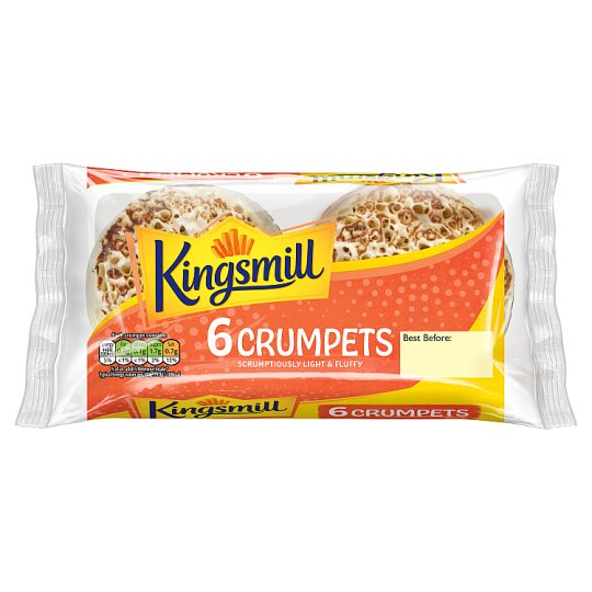 Kingsmill Crumpets 6 Pack