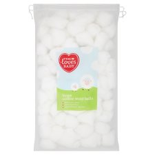 Tesco Loves Baby And Toddler Cotton Wool Balls 100 Pack