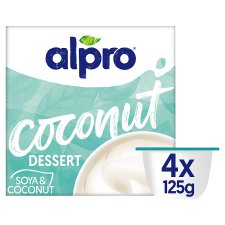 Alpro Soy Dessert With Coconut 4 Pack 125G