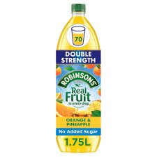 Robinsons Orange And Pineapple Concentrate Double No Added Sugar 1.75L