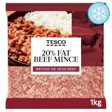 Tesco Minced Beef 20% Fat 1Kg