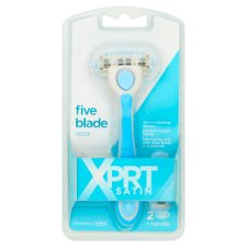 Xprt. Satin 5 Blade Razor Plus 2 Cartridge