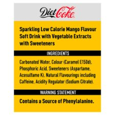 image 2 of Diet Coke Mango 4X330ml