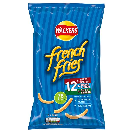 Walkers French Fries Variety Snacks 12 X 18 G