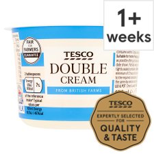 Tesco British Double Cream 150Ml