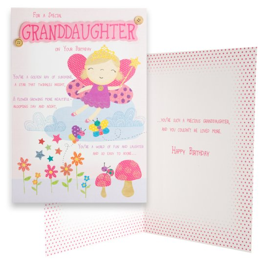 Tesco Bday Card For A Special Granddaughter