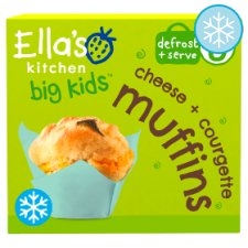 Ella's Kitchen Big Kids Cheese And Courgette Muffins 200G