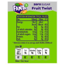 image 3 of Fanta Fruit Twist Zero 6X330ml