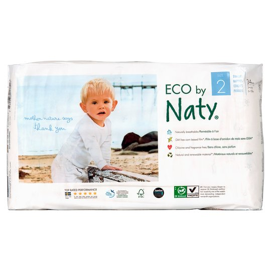 Naty Nature Baby Care Nappies Extra Small Size2 34'S
